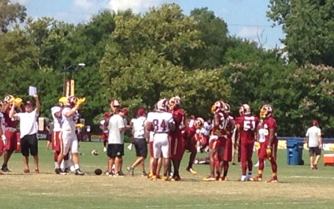 My Training Camp Experience Covering the Washington Redskins