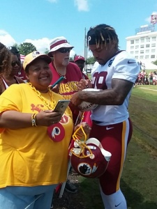 Guice with fans.
